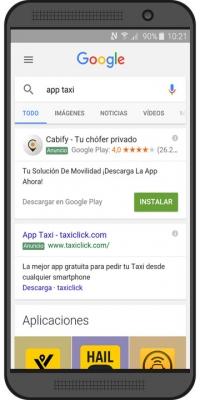 Publicidad aplicaciones google