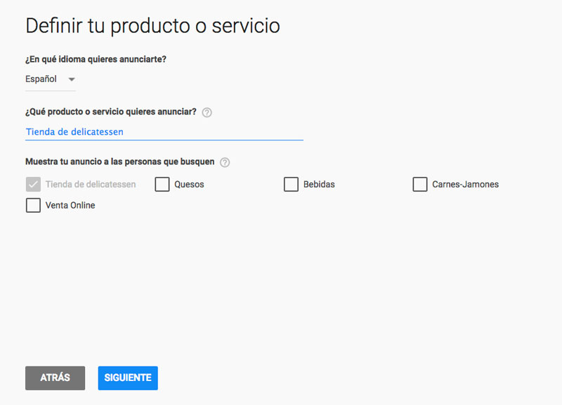 Anunciarse en Adwords Express