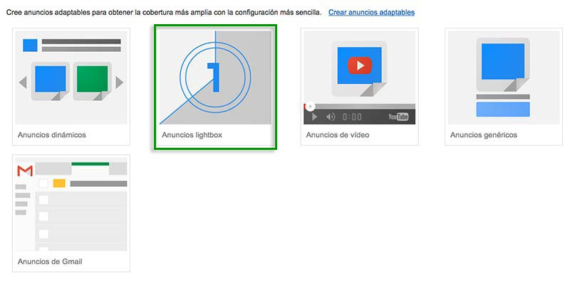 galeria de anuncios lightbox google adwords