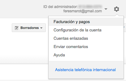 facturación con google adwords