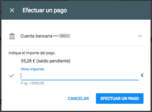 pagos manuales con google adwords