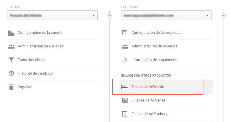 enlazar Analytics con google adwords