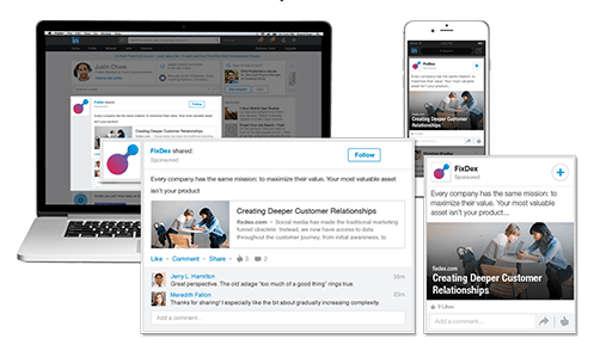 anuncios linkedin feed