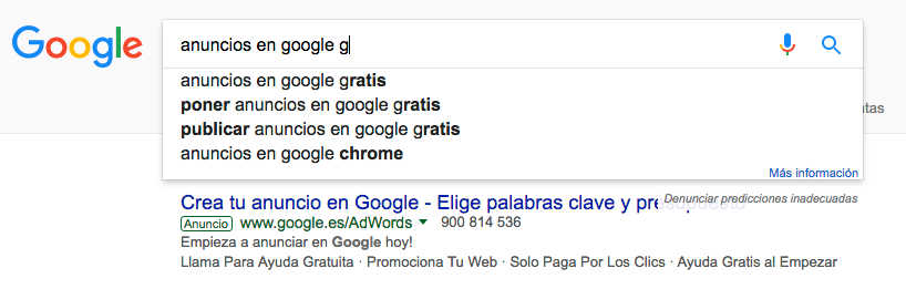 anuncios en google gratis