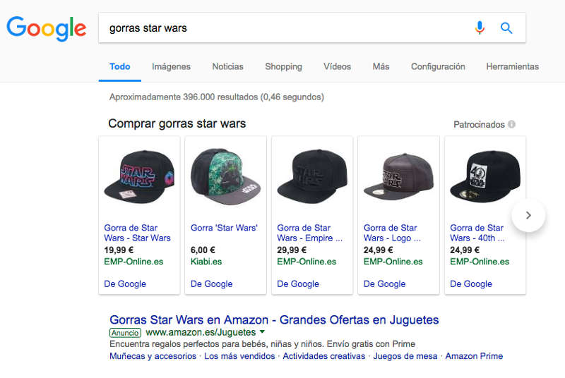 PLA google shopping