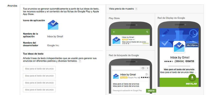promocionar App en googele adwords