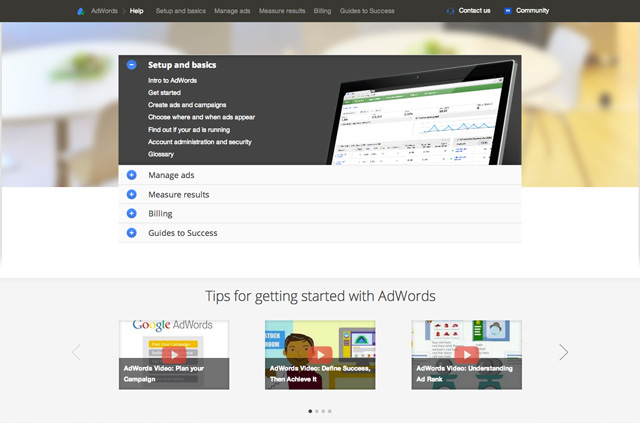 ayuda de google adwords