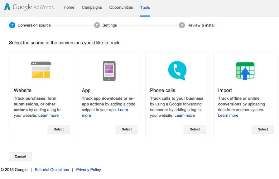 seguimiento de conversiones en google adwords
